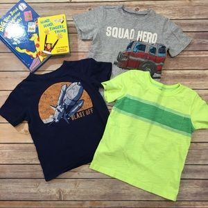Set of 3 Sz 4T Carter's Short Sleeve Boys T-Shirts